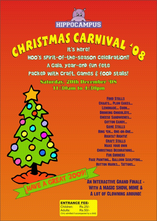 I Want A Hippocampus For Christmas.A Gala Year End Fun Fete At Hippocampus Koramangala