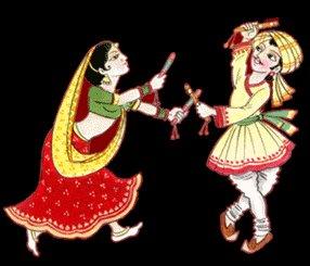 diyas around lets shake our hands and legs with some dandiya movesDandiya Dance Clipart