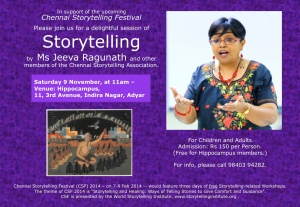 storytelling poster nov 9th