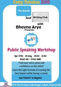 Public Speaking 27th april - 1st may
