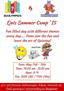 Scolympic  Workshop May 11 - 15
